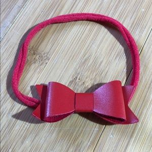 Baby Bling Bows Skinny Leather Bowtie Cherry 🍒